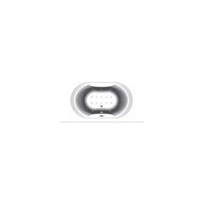 GLORIANA - 190 X 110 OVALNA MASAŽNA KOPALNA KAD Z OBLOGO + MIKROŠOBE, KOMBINIRANI (VODNI IN ZRAČNI) MASAŽNI SISTEM